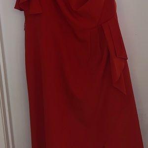 One shoulder red eloquii dress